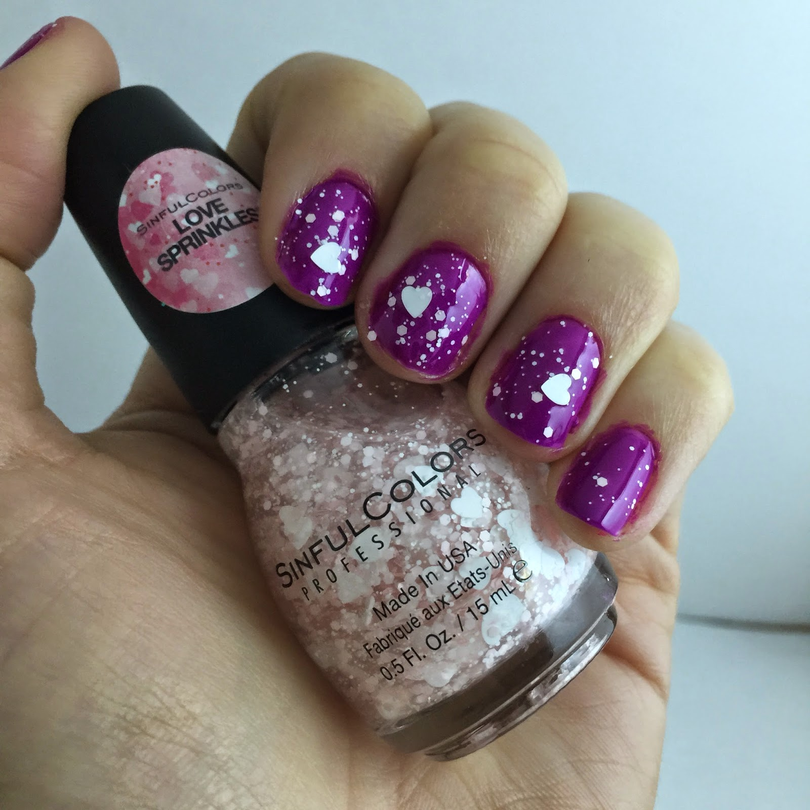 sinful colors nail polish in dream on and love sprinkles