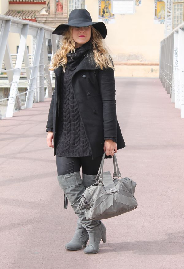 Modernas botas de invierno para mujer