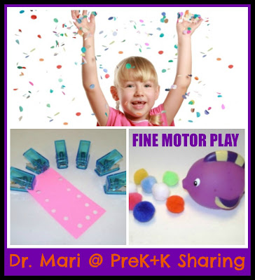 photo of: Dr. Mari on Fine Motor Play at PreK+K Sharing (the 18th of Every Month)
