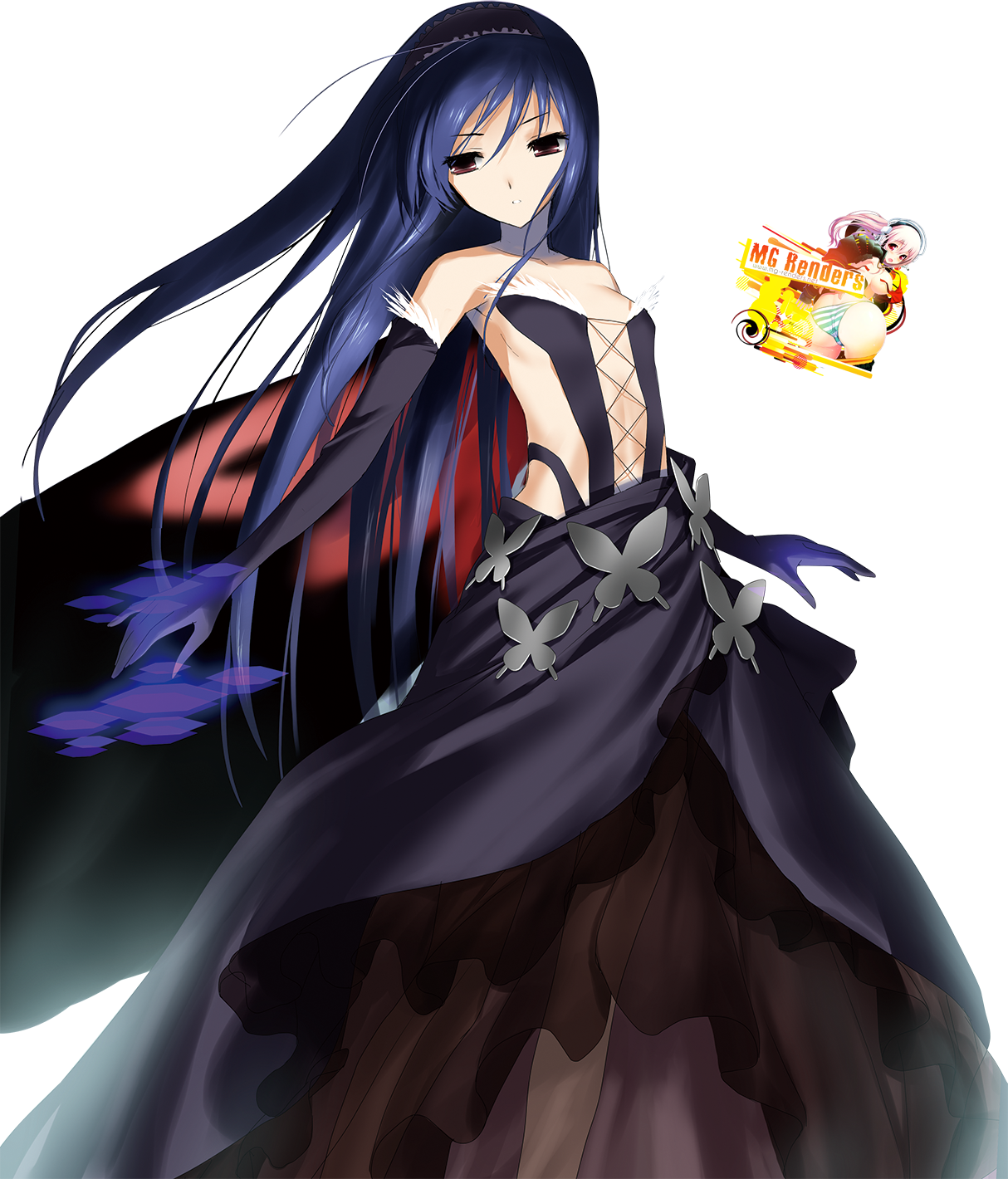Tags: Anime, Render,  Accel World,  kuroyukihime, PNG, Image, Picture
