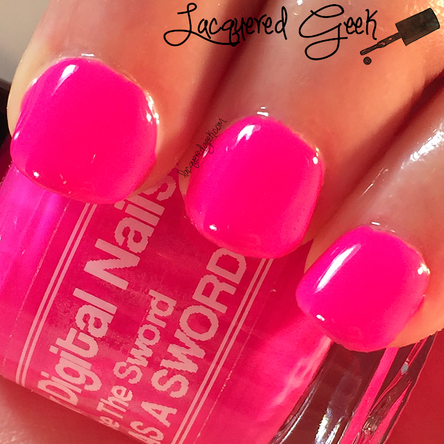 Digital Nails Use The Sword AS A SWORD nail polish swatch by Lacquered Geek
