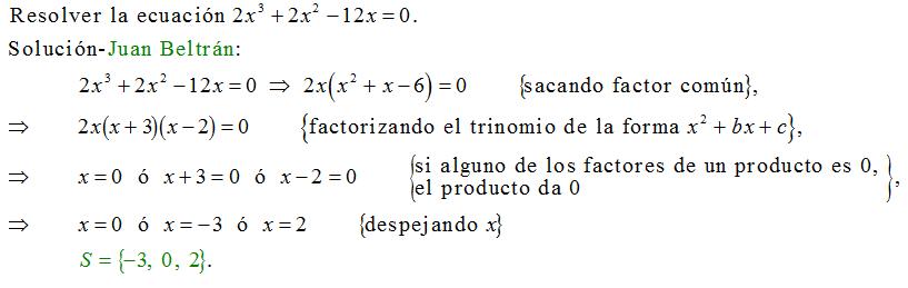 ecuaciones de tercer grado: