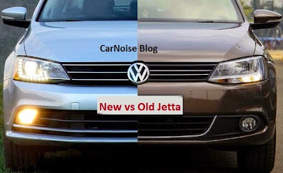 Front Comparison VW Jetta Facelift - New vs Old