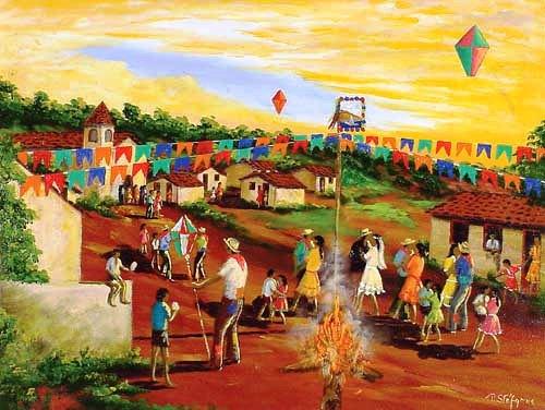 Artes na Educação Infantil Tela Papas Stefanos Festa na Roça