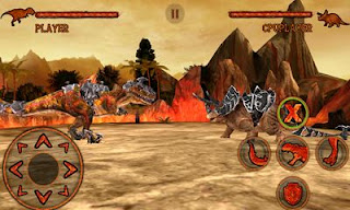 Screenshots of the Dino Fight for Android tablet, phone.