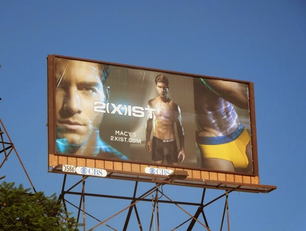 2(X)ist electric underwear model billboard