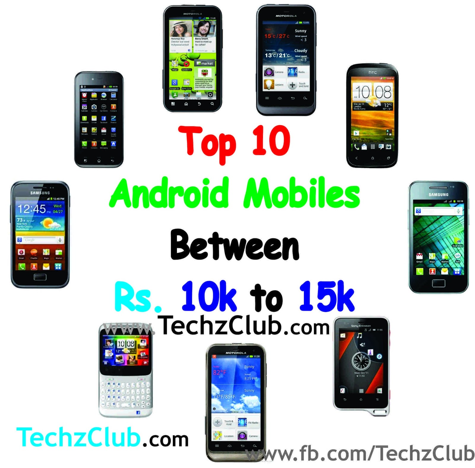 Top 10 Android Mobiles between 10000 to 15000