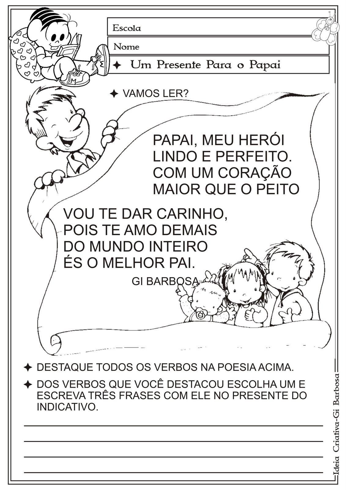 Pequeninos De Jesus Atividades Dia Dos Pais