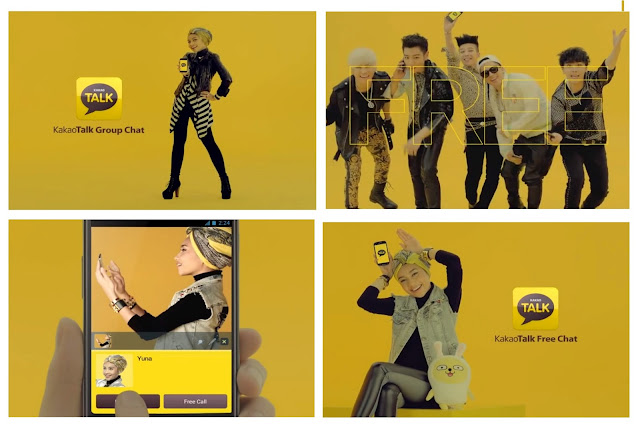 Yuna Big Bang kakaotalk daesung g-dragon top seungri taeyang