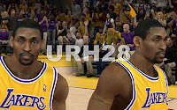 NBA2K12 LA Lakers Cyberface Patches metta world peace