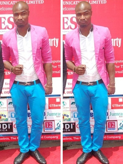 harrysong blue trouser