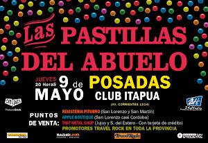 LAS PASTILLAS DEL ABUELO EN POSADAS!! JUEVES 9 DE MAYO 2013