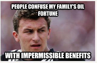 "So, naturally, I've made memes of all the ""Johnny Football Problems"