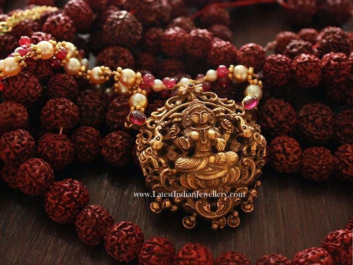 Beads Mala with Antique Pendant