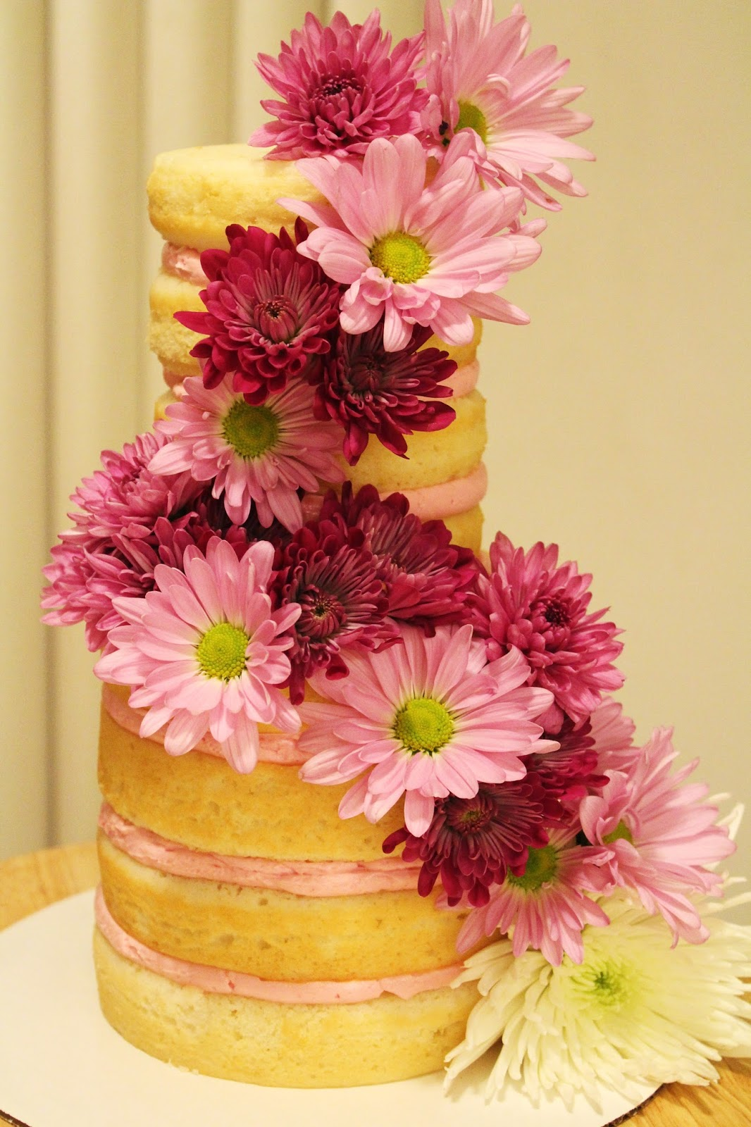 Blog As You Bake Naked Cake With Fresh Blooms