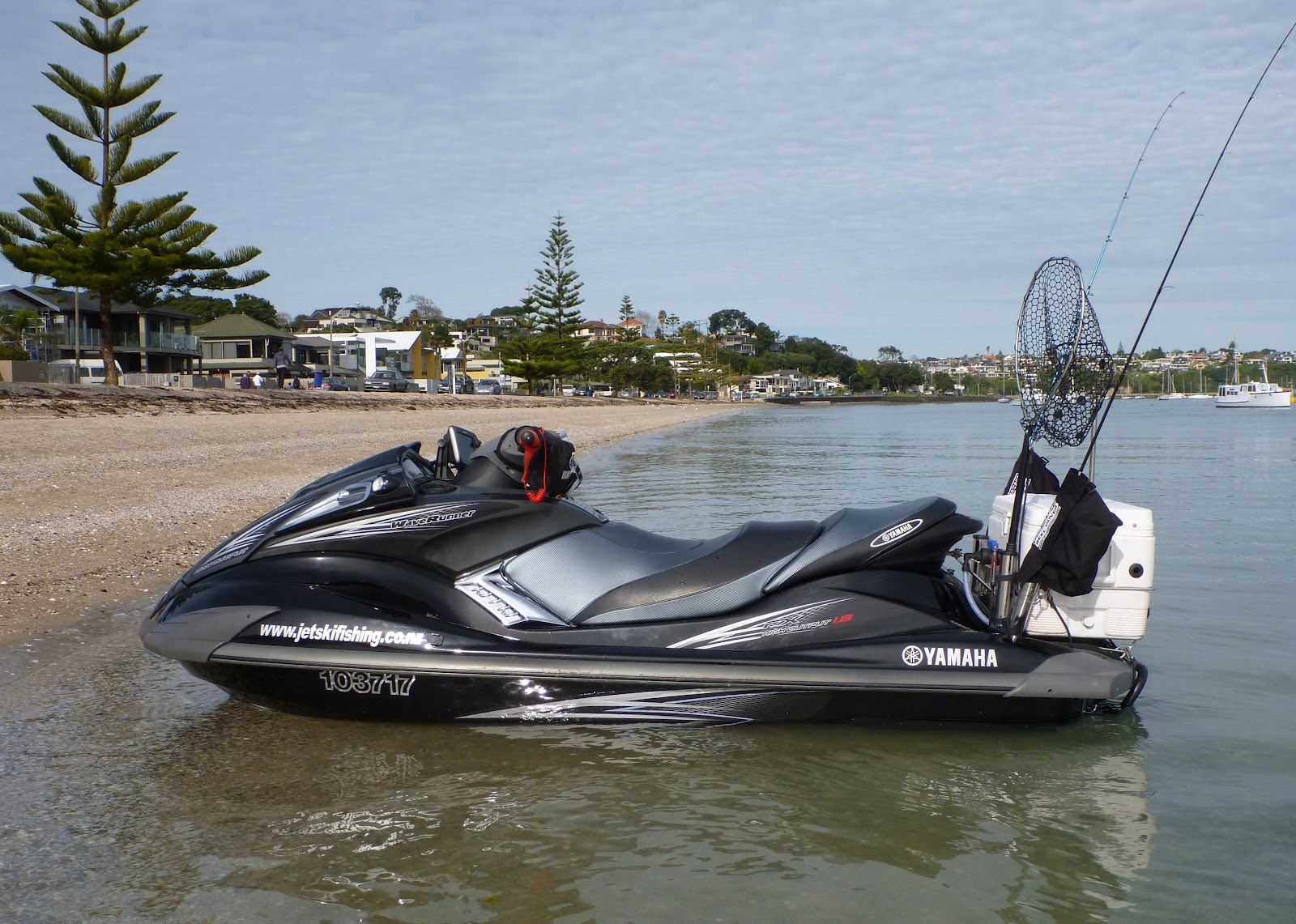 Jet ski fishing blog report 082 the reward of winter for Fishing jet ski