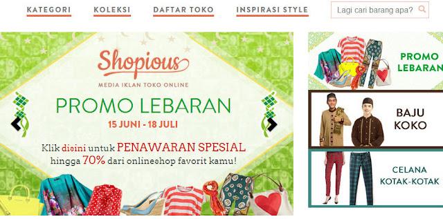 Toko online ada di Shopious.com