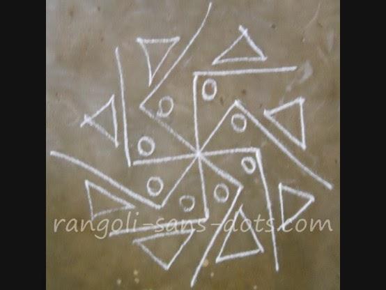 Simple apartment kolam designs kolam by sudha balaji for Door rangoli design images new