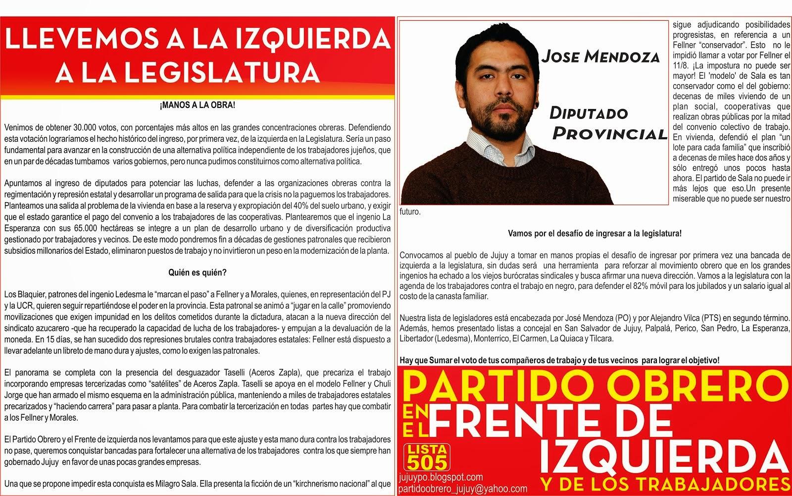DECLARACION DEL PARTIDO OBRERO