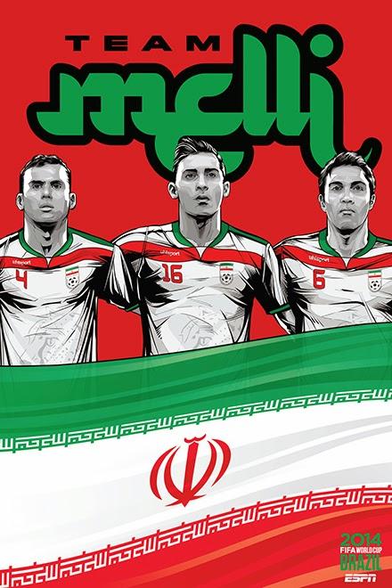 Poster keren world cup 2014 - Iran