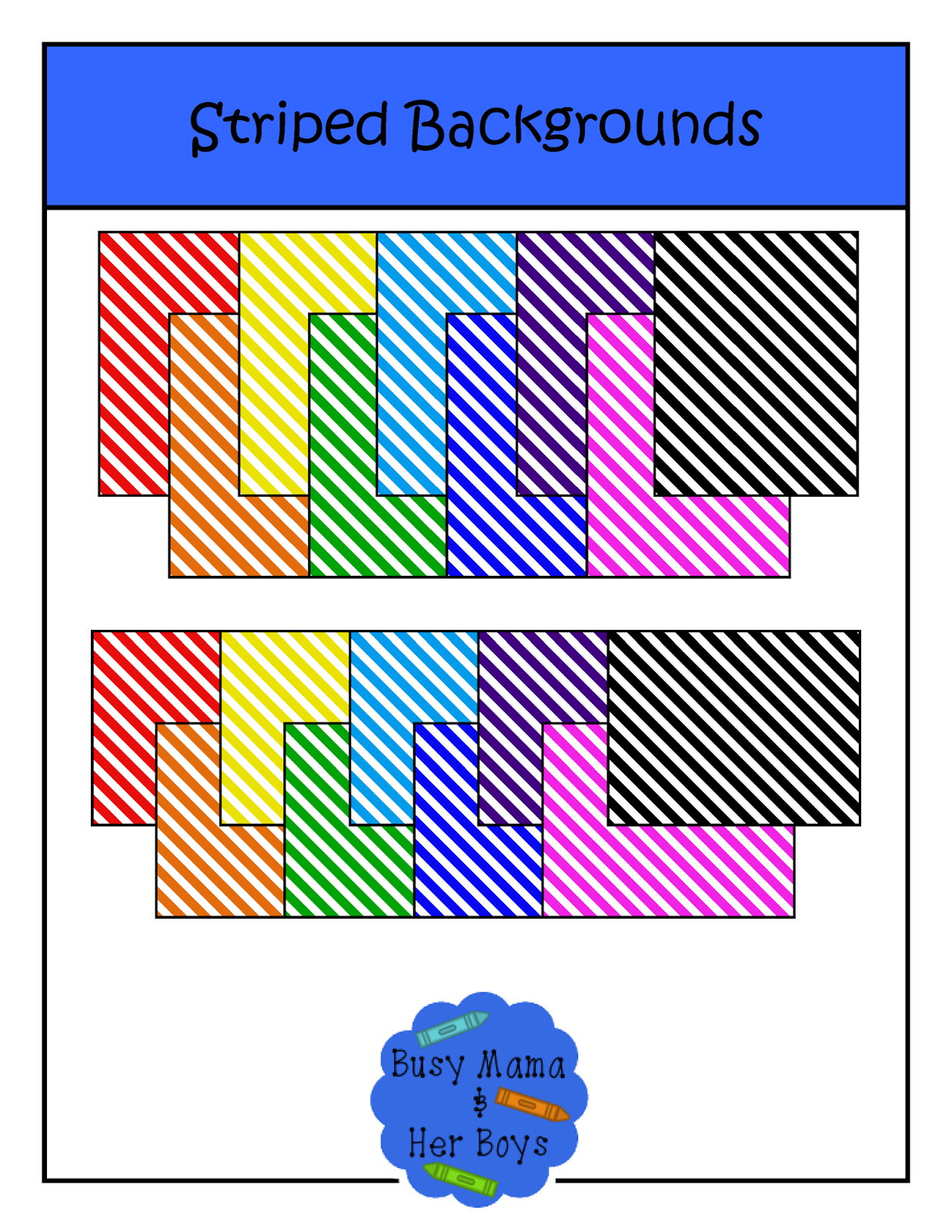 http://www.teacherspayteachers.com/Product/Striped-Backgrounds-1390031