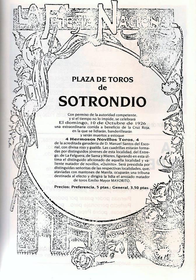 SOTRONDIO CARTEL TOROS 1926