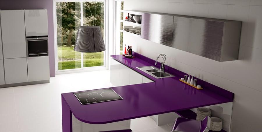 Encimeras de cocina granito o cuarzo cocinas con estilo for Encimeras de colores