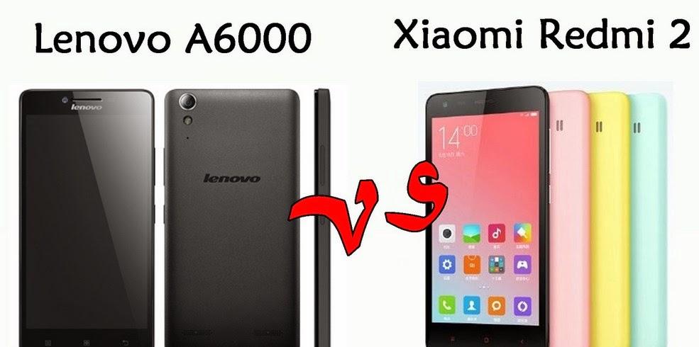 Harga Lenovo A6000 vs Xiaomi Redmi 2, Duel Smartphone LTE Android KitKat