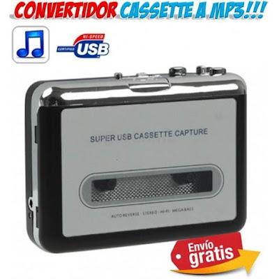 Convertidor cintas cassette MP3