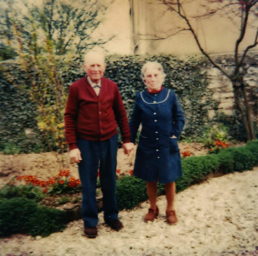 Mon grand-père Fernand et ma grand-mère Germaine