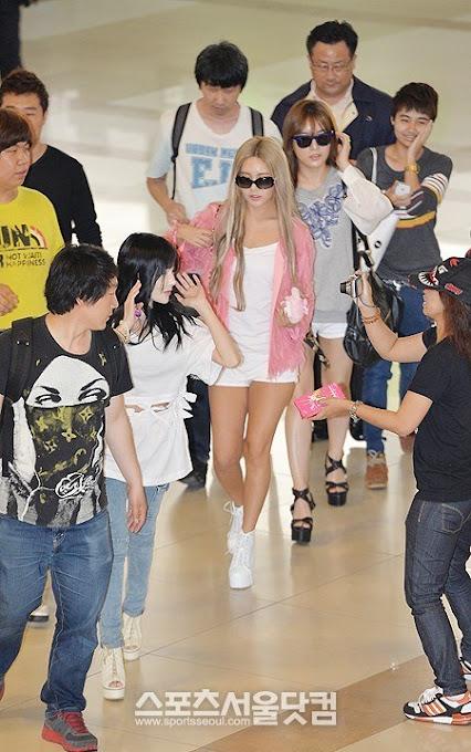 Foto T-ara Soyeon, Boram, dan Qri Menuju Jepang 130527