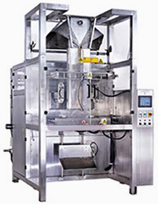 tilted form fill seal machine for liquid&paste Vertical FFS packing Verpackungsmaschine fuer Säcke