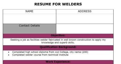 fresh jobs and free resume samples for jobs resumes for welder jobs