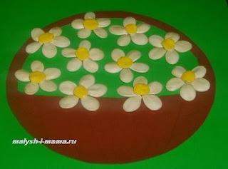 Поделки для детей из тыквенных семечек