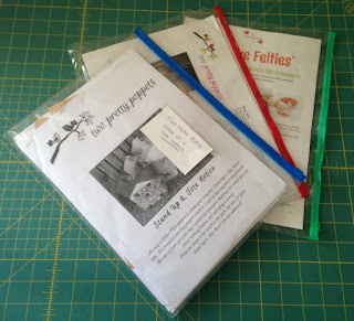 Use envelopes or plastic pockets for patterns and projects