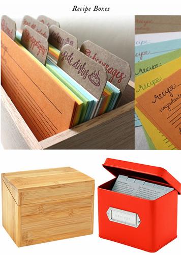 cajas de recetas