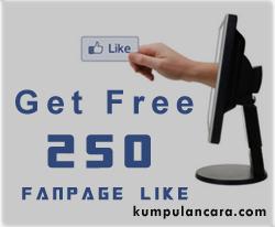 Gratis 250 Likes Untuk Fanpage Anda