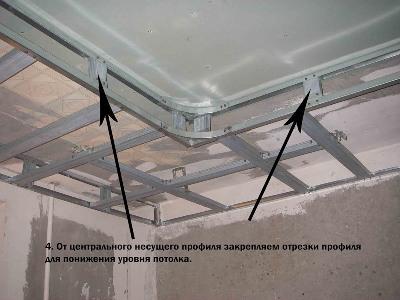 Как сделать двухуровневые потолки своими руками
