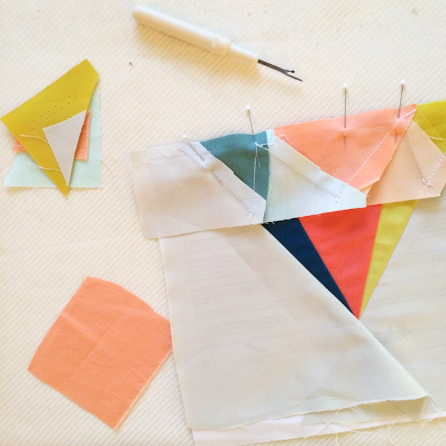 bright and modern paper-pieced gem   by Lovely and Enough