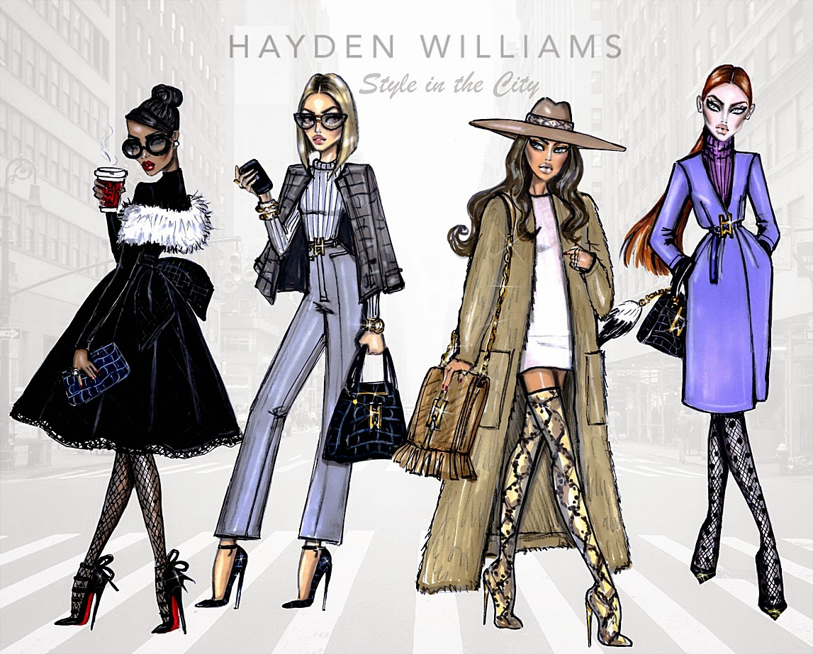 Hayden Williams Fashion Illustrations Style In The City