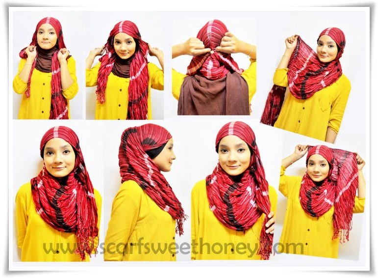 gambar tutorial hijab square