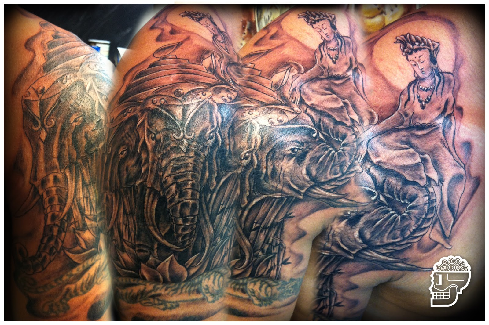 Jeremy worst jeremy worst forearm tattoo session dragon for Laos tattoo designs