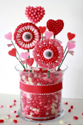 Candy Bouquet Valentines Display