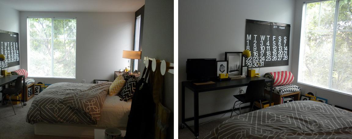 Black White Yellow Bedroom Sneak Peek