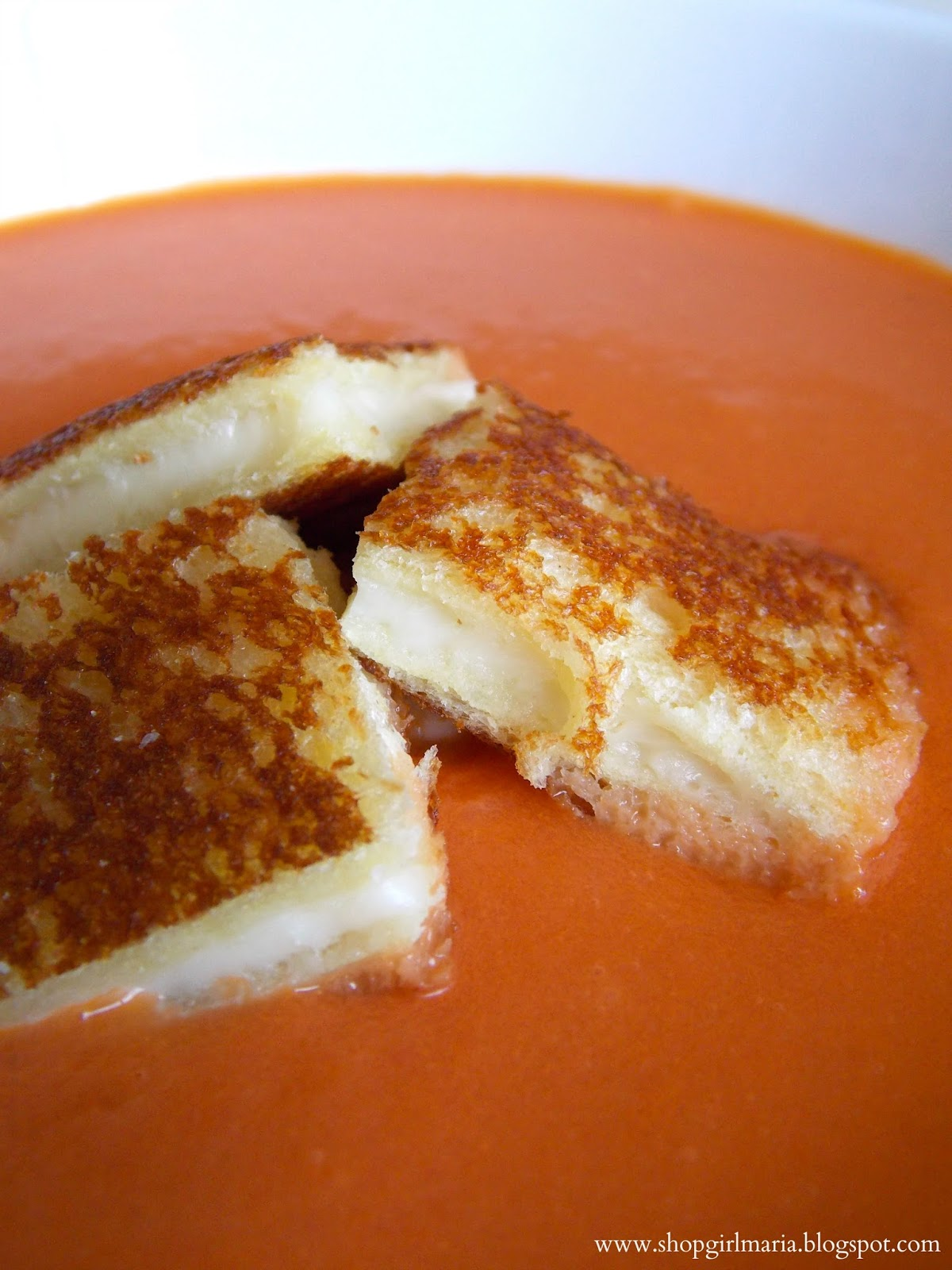 Creamy Tomato Soup with Grilled Cheese Croutons | A ...