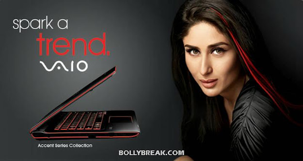 Kareena kapoor red streak in hair- - Kareena Kapoor Sparks For Sony VAIO