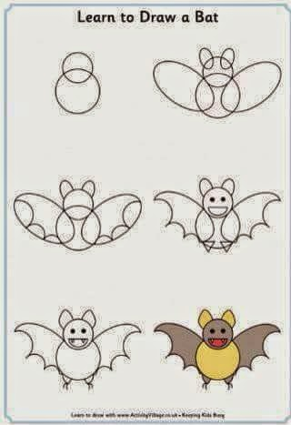 Learn to draw  a bat for kids
