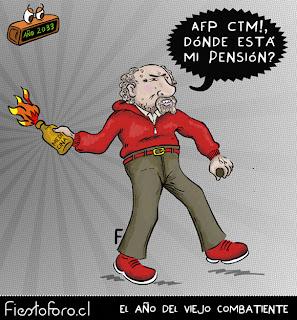 Un viejito combatiente le pregunta a las AFP dónde quedó su pensión...