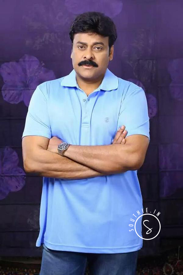 Megastar Chiranjeevi in Blue Tee and Demins. Megastar Chiranjeevi, Chiru, Chiru Casual Look