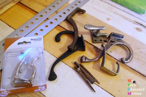 Coat Hooks for a Broken Karate Board Coat Rack